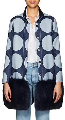Lisa Perry Women's Reversible Fur-Trimmed Wool Coat