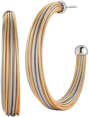 Alor 18K & Stainless Steel Classique Hoops