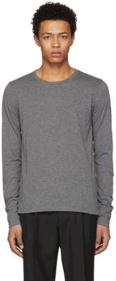 Burberry Grey Long Sleeve Marchston Burnout T-Shirt