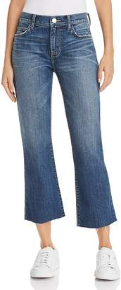 Current/Elliott The Kick Flare Raw-Edge Jeans in Sutfin