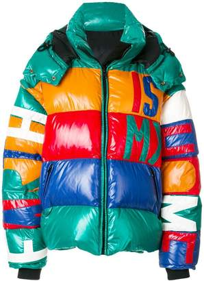 Faith Connexion panelled hooded puffer jacket