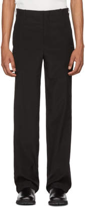 MACKINTOSH 0003 Black Vertical Seams Trousers