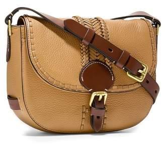Cole Haan Mini Loralie Whipstitch Leather Saddle Bag