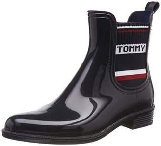 011e362083f98c Tommy Hilfiger Women's Tommy Elastic Rain Boot Wellington (Black ...