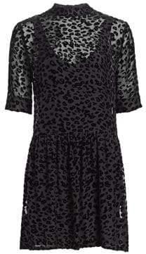 Rag & Bone Gia Burnout Mini Dress