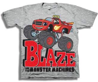 BLAZE AND THE MONSTER MACHINES Drawn Design Boys' Juvy Short Sleeve Graphic Tee T-Shirt
