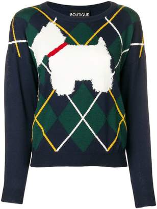 Moschino dog knit sweater