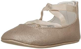 Ralph Lauren Layette Girls' Priscilla Gold Metallic Ballet Flat