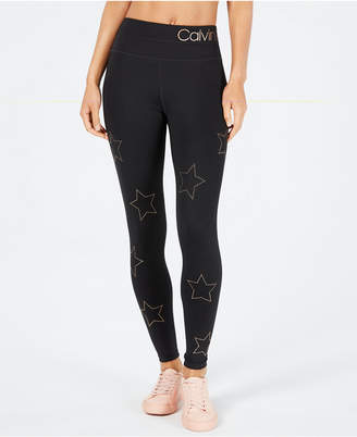 Calvin Klein Star Studded High-Waist Leggings