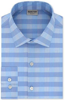 Kenneth Cole Reaction Men's Slim-Fit Performance Stretch Check Dress Shirt