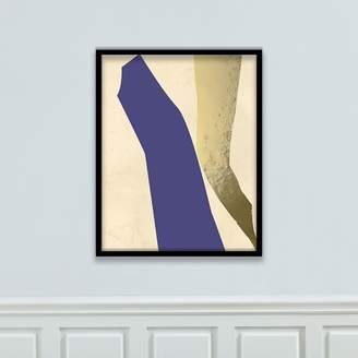 west elm The Arts Capsule Framed Print - Highway Blue