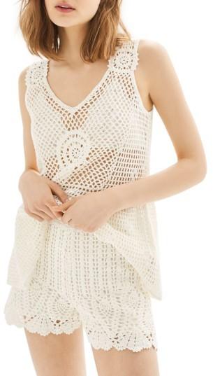 TopshopWomen's Topshop Crochet Shorts