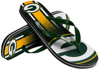 Forever Collectibles Green Bay Packers Gradient Big Logo Flip Flops