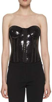 Tom Ford Strapless Liquid Sequin Bustier Top