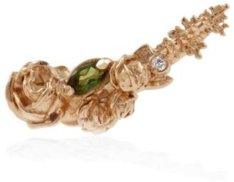 Lee Renee Rose Diamond & Tourmaline Slider Earring Single - Rose Gold
