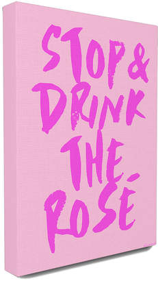 Stupell Stop And Drink The Rose Oversized Canvas Wall Art By Lulusimon Studio