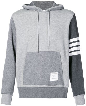 Thom Browne 4-Bar Tonal Fun-Mix Hoodie