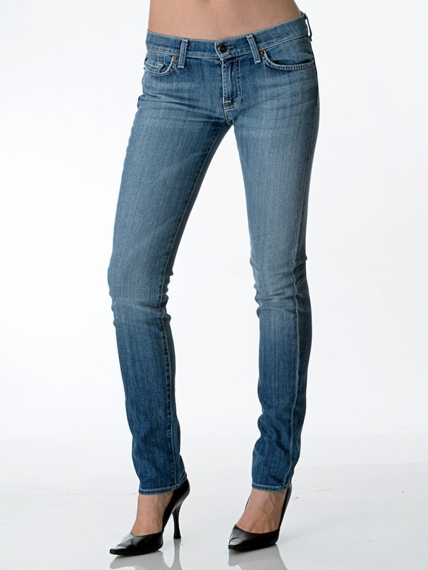 7 For All Mankind Roxanne Skinny Jean in Ellis Island