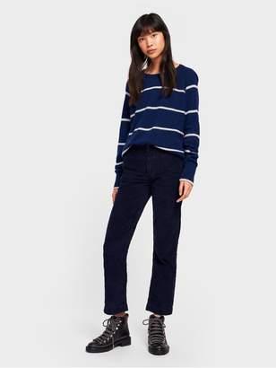 White + Warren Cashmere Essential Striped Sweatshirt
