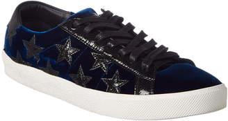 Saint Laurent Court Classic Velvet Sneaker