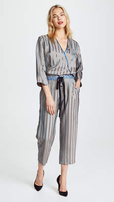 Giada Forte Viscose Stripe Jumpsuit