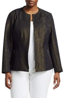 Lafayette 148 New York Lafayette 148 New York, Plus Size Courtney Fitted Peplum Jacket