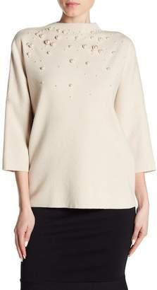 Catherine Malandrino Imitation Pearl Accent Sweater