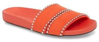 Topshop Rascal Studded Slide Sandal (Women)