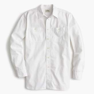 J.Crew Relaxed chambray boy shirt in white