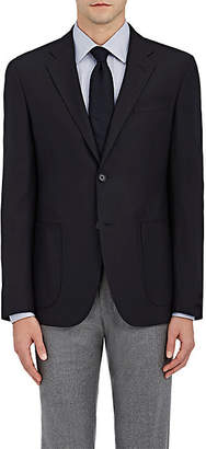 Barneys New York MEN'S WOOL TWO-BUTTON SPORTCOAT - NAVY SIZE 42 R