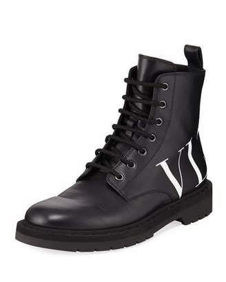 Valentino VLTN Leather Combat Boots
