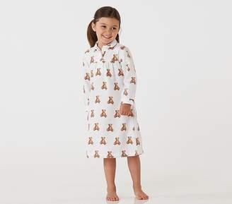 Pottery Barn Kids Teddy Bear Flannel Nightgown, 3T