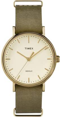 Timex Boutique Fairfield Leather Strap Watch