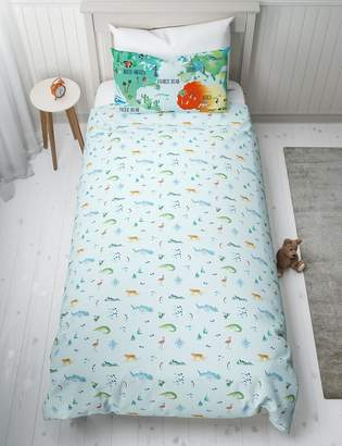 Marks and Spencer Map of the World Reversible Bedding Set