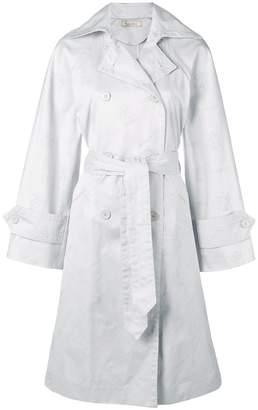 Nina Ricci logo jacquard trench coat