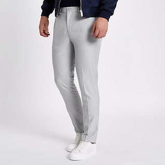 River Island Light grey skinny fit smart pants