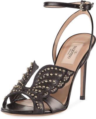 Valentino Garavani Studded Butterfly Sandals