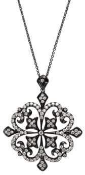 Effy Black Rhodium Finish 14k White Gold Pendant Necklace with 1.31 TCW Diamonds