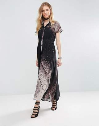 Religion Succession Tie Waist Maxi Dress