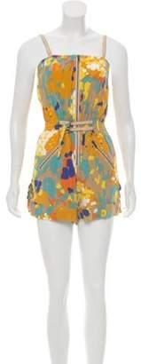 Diane von Furstenberg Sleeveless Silk Romper w/ Tags Yellow Sleeveless Silk Romper w/ Tags