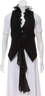 Elizabeth and James Silk-Trimmed Ruffled Vest w/ Tags