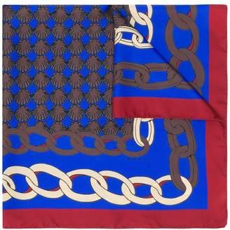 Marni colour-block chain print scarf