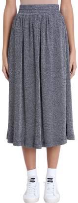 Golden Goose Blue Lurex Long Skirt