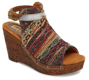 Sbicca Sabari Peep Toe Wedge Sandal