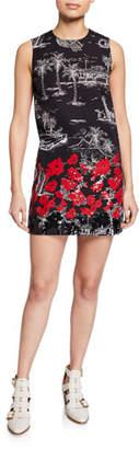 No.21 No. 21 Printed Sequin Sleeveless Short Dress