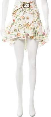 Just Cavalli Floral Print Knee-Length Skirt