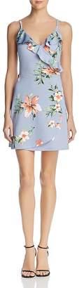 Aqua Floral Ruffle Faux-Wrap Dress - 100% Exclusive