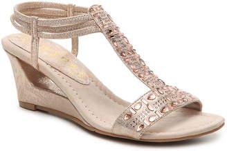 New York Transit Fancy Jewels Wedge Sandal - Women's