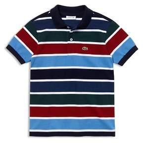 Lacoste Boys' Mixed Stripe Polo - Little Kid, Big Kid