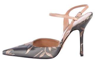 Dolce & Gabbana Pointed-Toe Ankle Strap Sandals Grey Pointed-Toe Ankle Strap Sandals